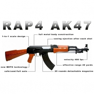 Marker Profesional Paintball Type 68 AK47 Paintball Gun shoots