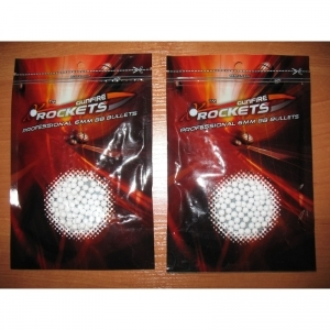 Munitie airsoft 6mm Gunfire Rockets 0.20g x 300 buc.